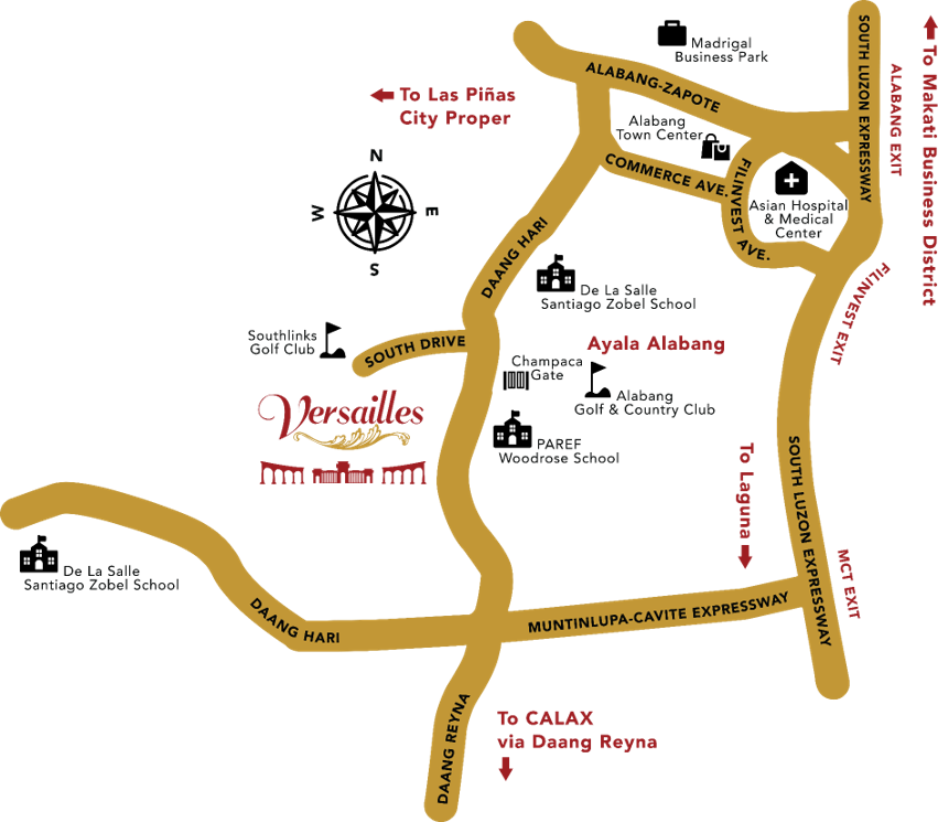 Versailles Alabang Village House for sale location map